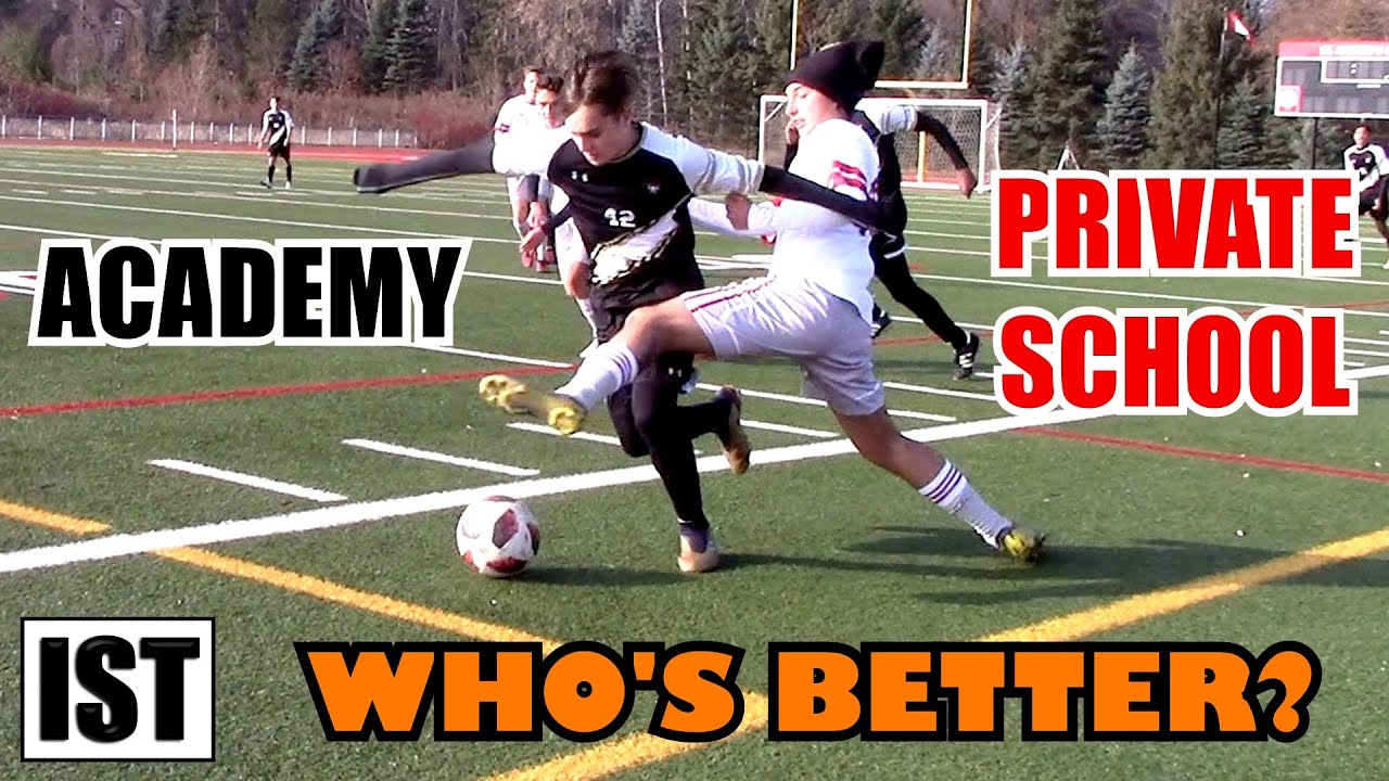 Download PRIVATE School vs ACADEMY!  Body SMASHED into Post & Knee STRIKE to MID-SECTION!