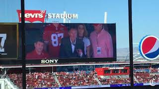 Joe Montana and Dwight Clark on