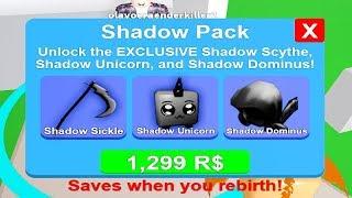COMPRANDO O SHADOW PACK NO MINING SIMULATOR - ROBLOX
