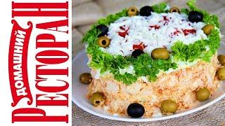 Торт С Семгой и Крабовыми Палочками #Закуска#Торт Домашний ресторан®