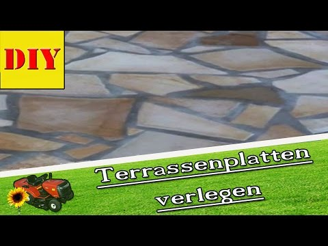 terrassengestaltung terrassenplatten verlegen natursteinplatten bruchsteinplatten tutorial. Black Bedroom Furniture Sets. Home Design Ideas