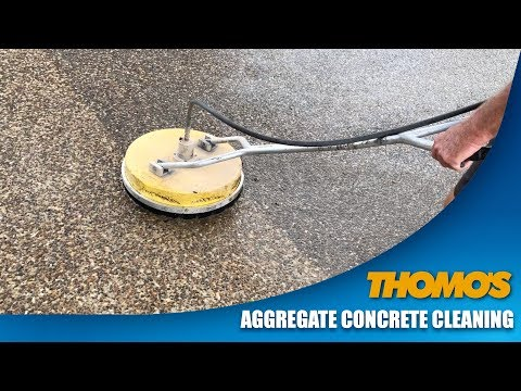 Exposed Aggregate Concrete Driveway Cleaning by Thomo's High Pressure Cleaning