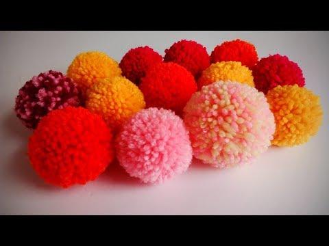 How To Make Pom Pom | How To Make Perfect Yarn Pom Poms | Easy Way Of Pompom Making