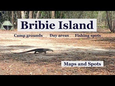 Bribie Island, MAPS AND SPOTS, Camp Grounds, Day Areas And Fishing Spots.