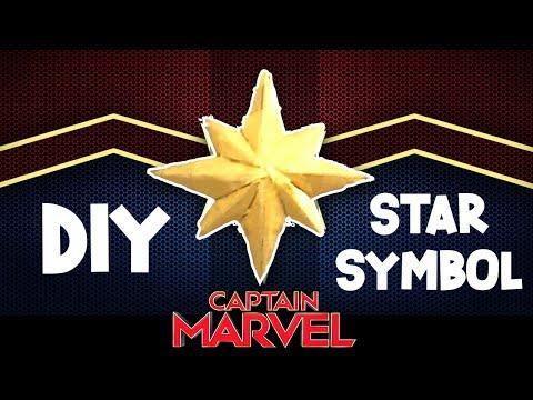 DIY CAPTAIN MARVEL STAR SYMBOL