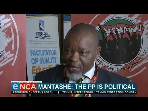 Mantashe says Mkhwebane is political