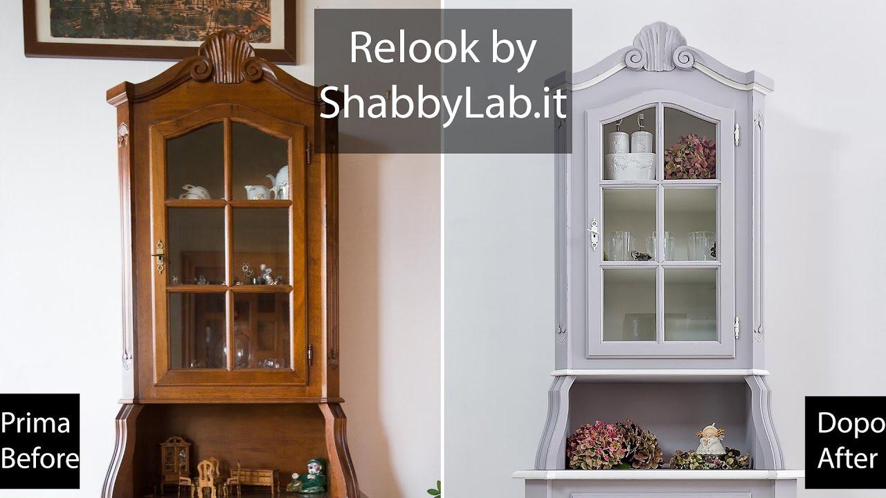 Credenza Classica Con Vetrina : Shabby chic relook credenza con vetrina allinglese youtube