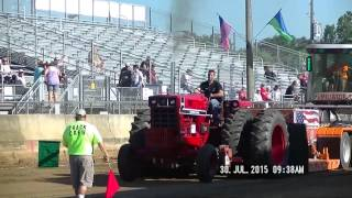 18,000lb FARM STOCK TRACTORS AT 2015 ELKHART COUNTY, INDIANA FAIR PULL JULY 30, 2015
