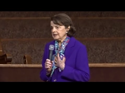 DIANNE FEINSTEIN SAYS WE'RE LUCKY TO HAVE DACA ILLEGAL ALIENS. WANTS TO BRING IN MORE REFUGEES.