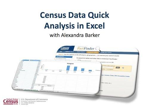Census Data Quick Analysis In Excel