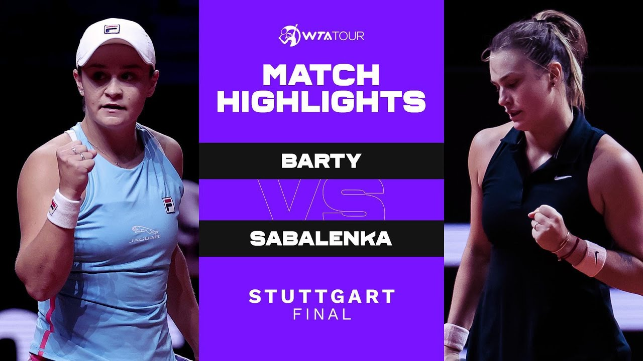 Ash Barty vs. Aryna Sabalenka   2021 Stuttgart Final   WTA Match Highlights