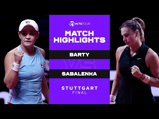 Ashleigh Barty vs. Aryna Sabalenka | 2021 Stuttgart Final | WTA Match Highlights