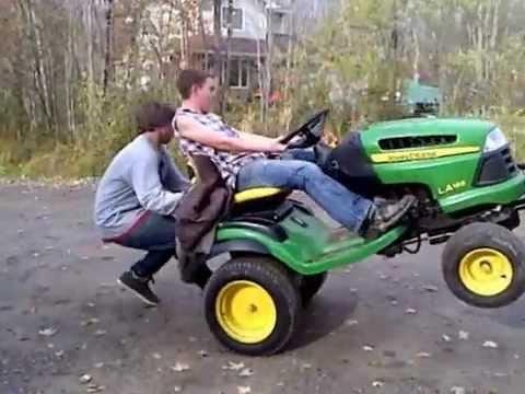 John Deere 165 Wheelie Youtube