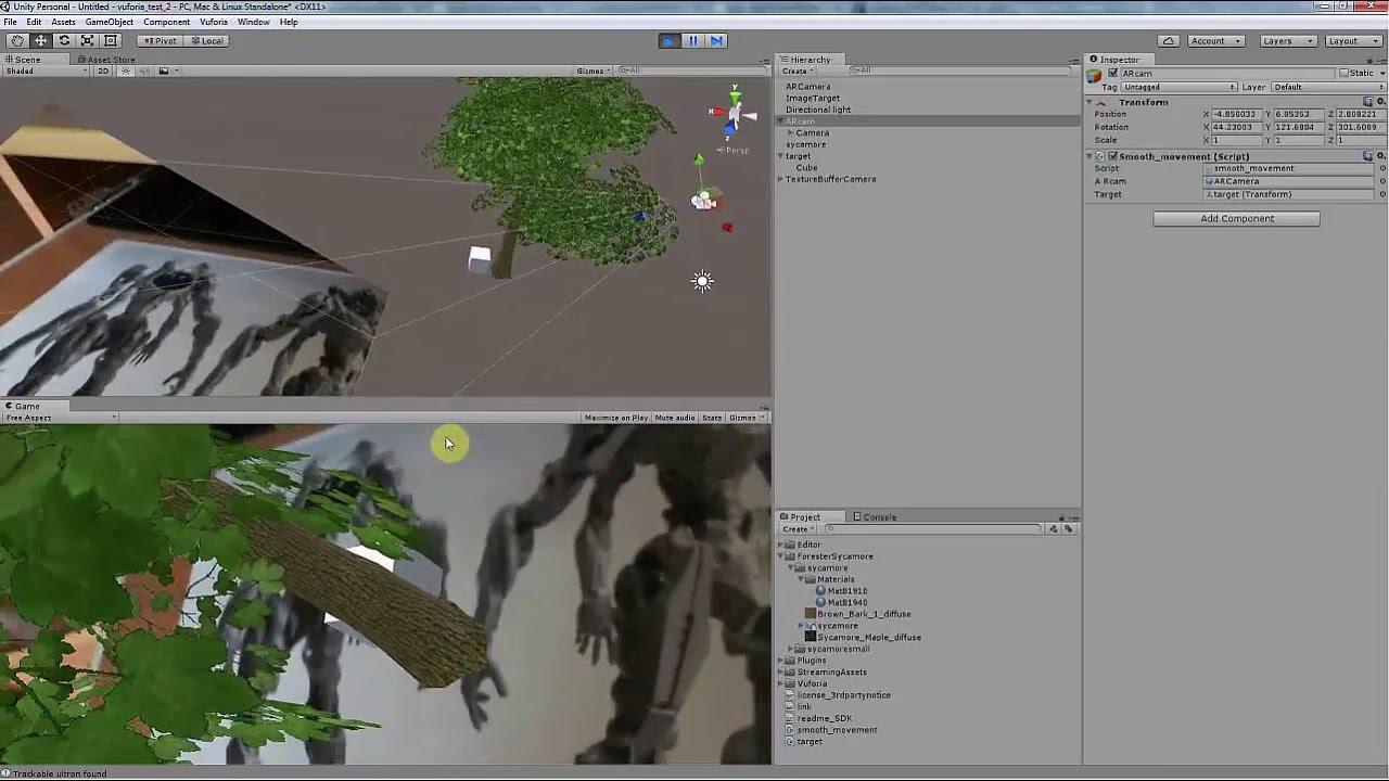 unity3d augmented reality vuforia camera shaking fix