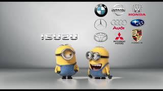 Minions fart Isuzu vs BMW / MercedesBenz / Toyota / Nissan / Audi / MMC / Honda / Subaru / Porsche