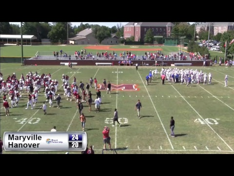 Maryville College Football hosts Hanover College 2017