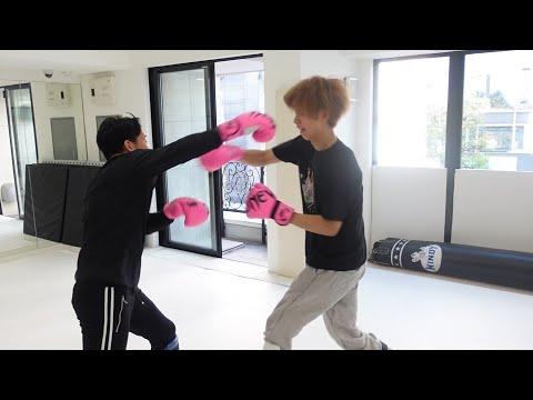 はじめしゃちょーに格闘技教えてスパーリングしてみた