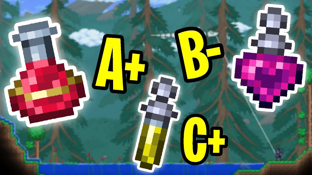The Ultimate Terraria Potion Tier List Youtube