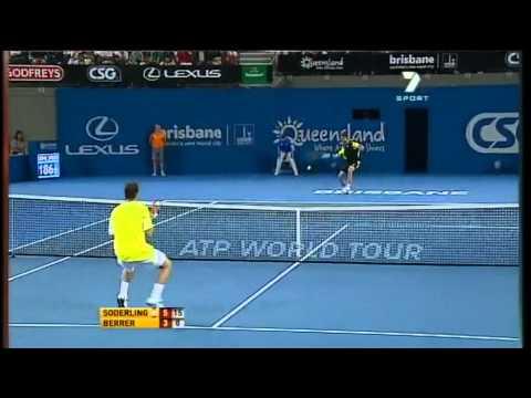 Robin Soderling v Michael Berrer - Men's singles 2nd round match: Brisbane International 2011