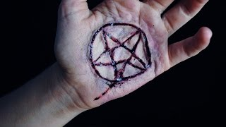 Escarificación pentáculo satánico - Makeup FX