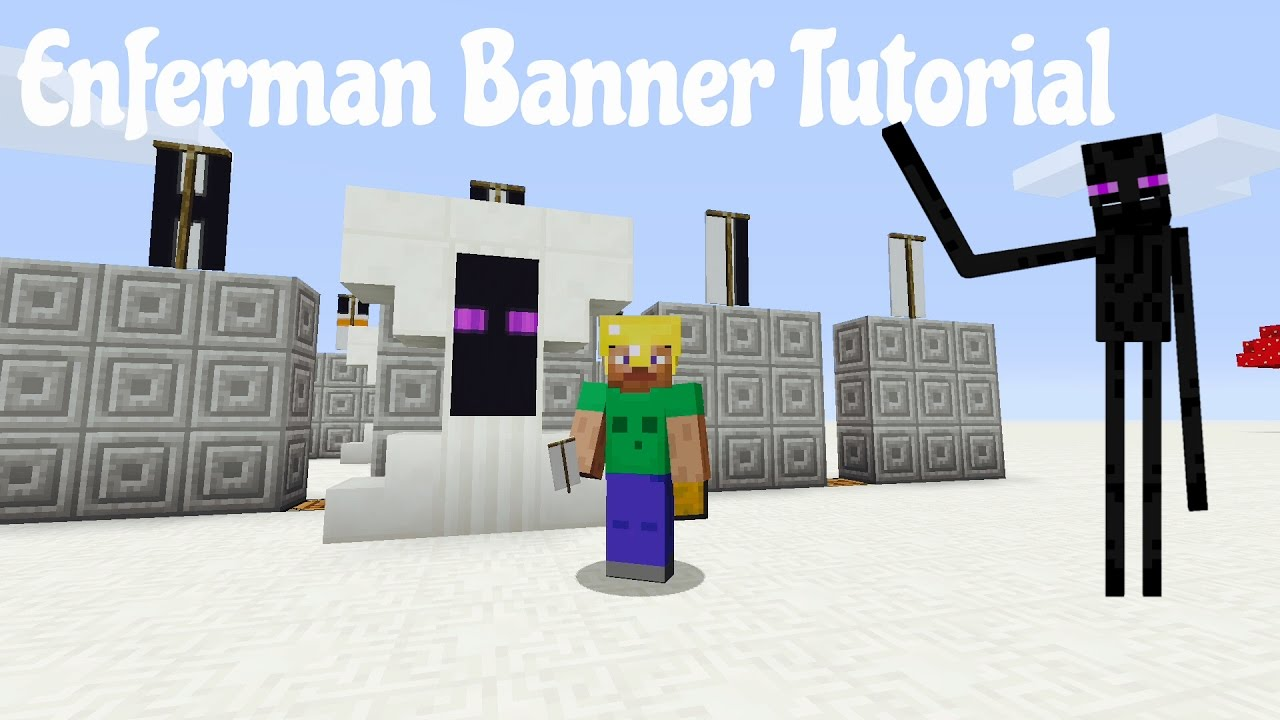 Minecraft Xbox One Ps4 Banner Tutorial Enderman