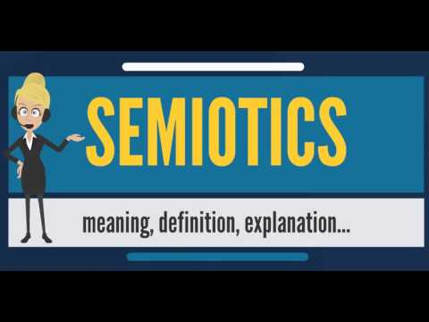 What is SEMIOTICS? What does SEMIOTICS mean? SEMIOTICS meaning, definition & explanation