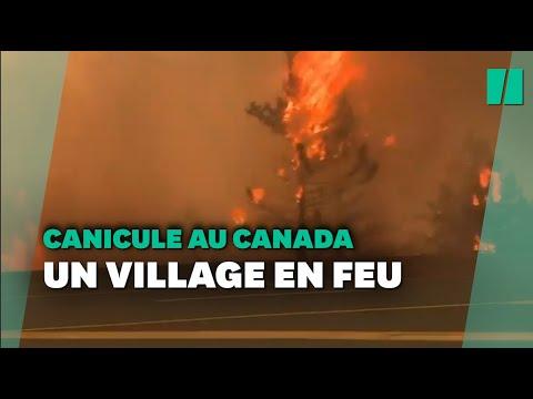 Canicule au Canada: le village de Lytton en feu évacué d'urgence