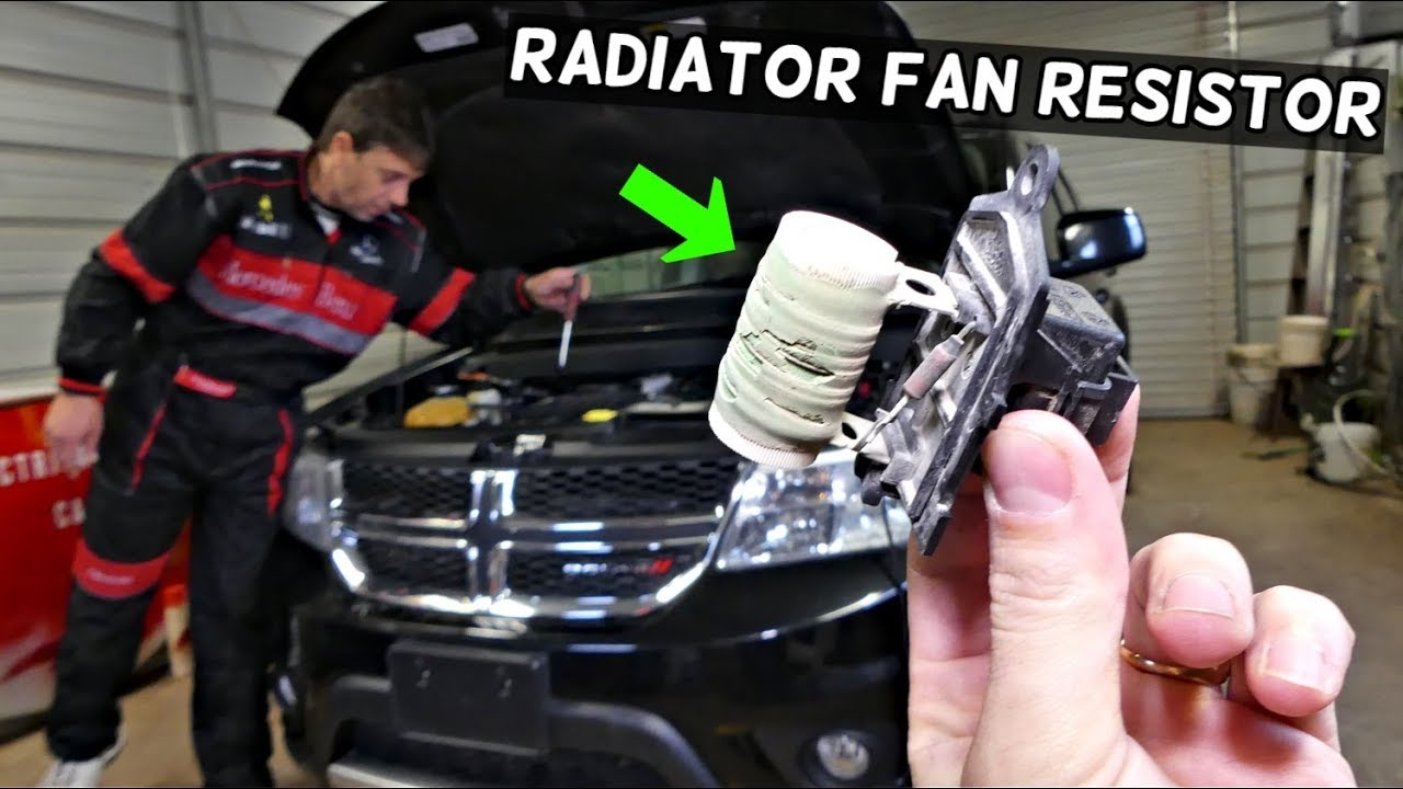 DODGE JOURNEY RADIATOR FAN RESISTOR REPLACEMENT REMOVAL LOCATION | FIAT  FREEMONT