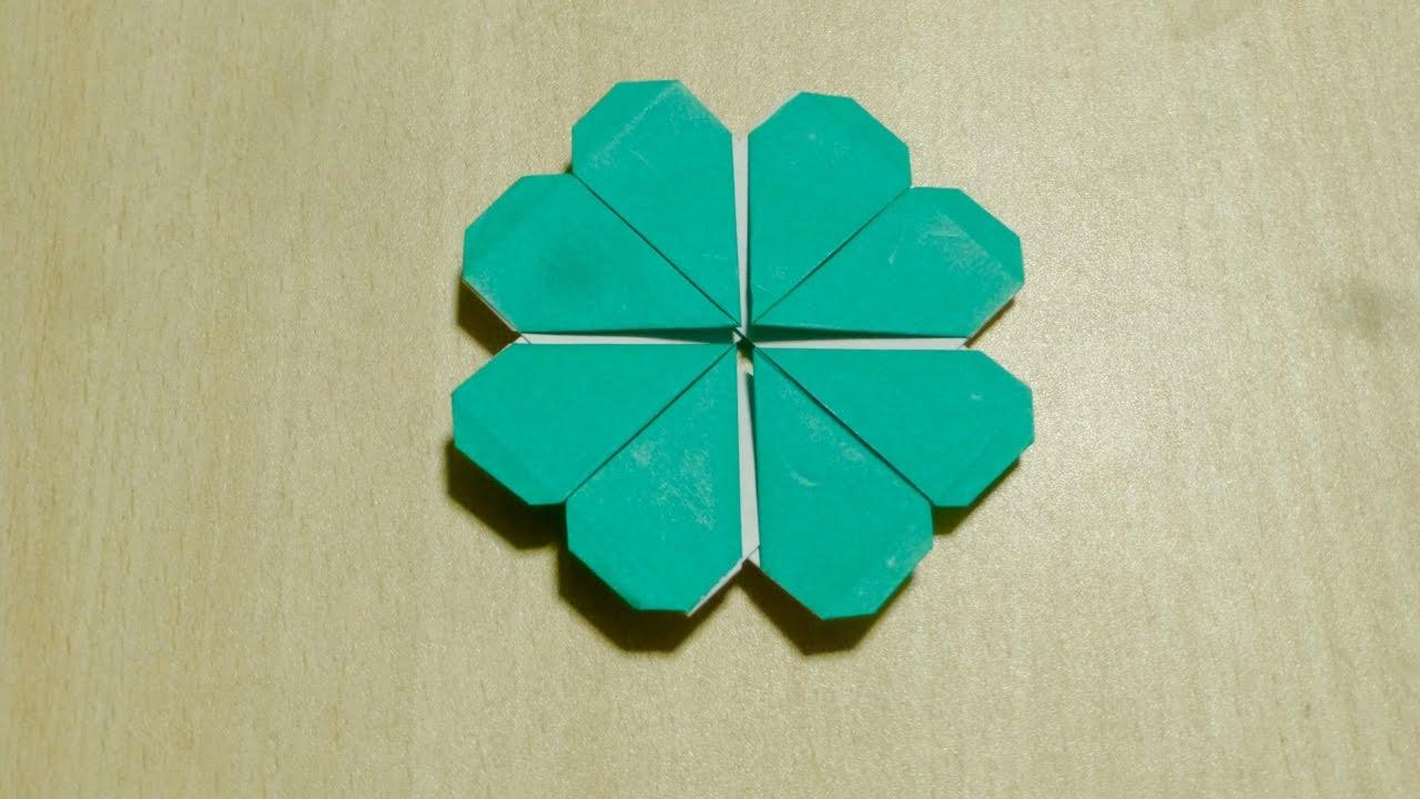 Comment faire quatre feuilles de tr fle origami l 39 art de plier le papier youtube - Comment faire de l origami ...