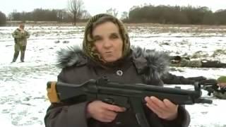Babushka D'ukraine Prete A Resister à L'armée Russe 23 01 2015