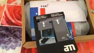 Unboxing limpiador pantalla y teclado comprado online en K-tuin