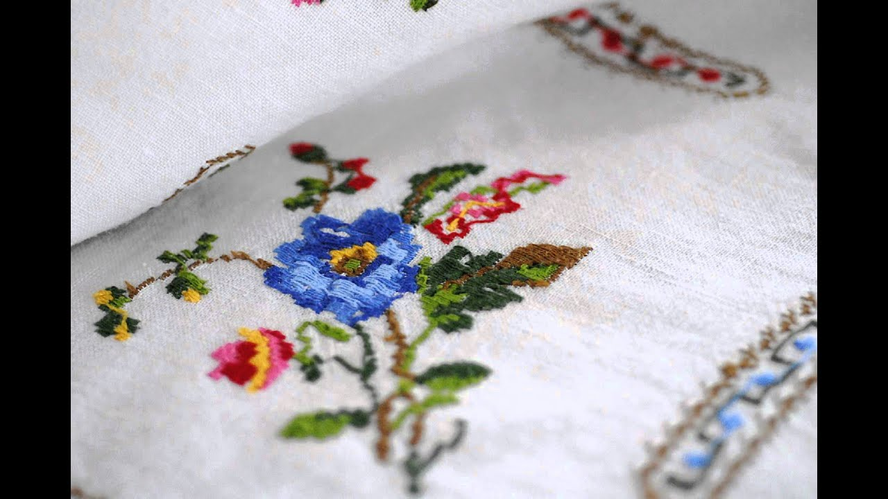 Simple hand embroidery designs for tablecloth - Simple Hand Embroidery Designs For Tablecloth 57