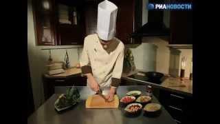 Рецепт. Теплый салат с фасолью