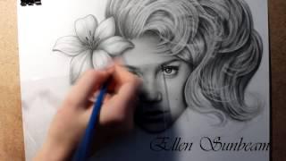Drawing Kristina Asmus (by Ellen Sunbeam)