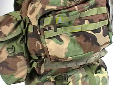 large external frame military molle ii and usmc ilbe pack for hiking and camping youtube