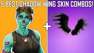 5 Best SHADOW WING Skin Combos! | Fortnite Battle Royale