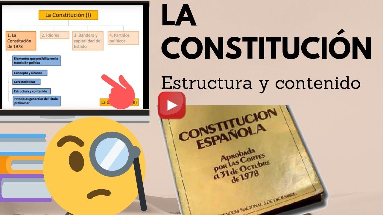 1 1 La Constitución De 1978 Estructura Y Contenido Esp 2019