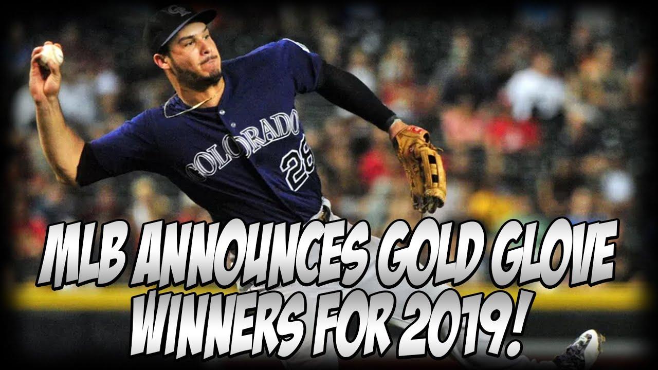 MLB Announces 2019 Gold Glove Award Winners | Rockies 3B Nolan Arenado Wins For 7th Straight Year!