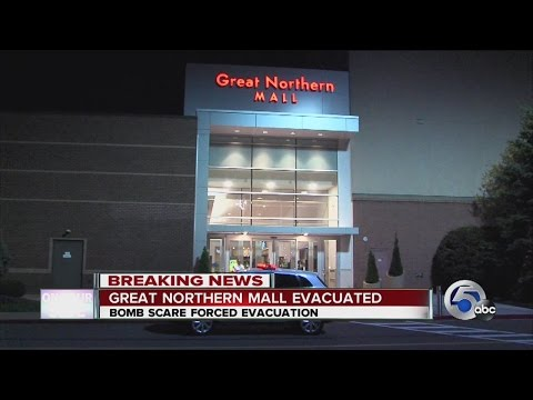 PD: No bomb found after Great Northern Mall evacuation, search