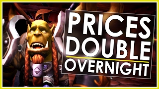 gold price doubled overnight wow token for bnet balance is live now