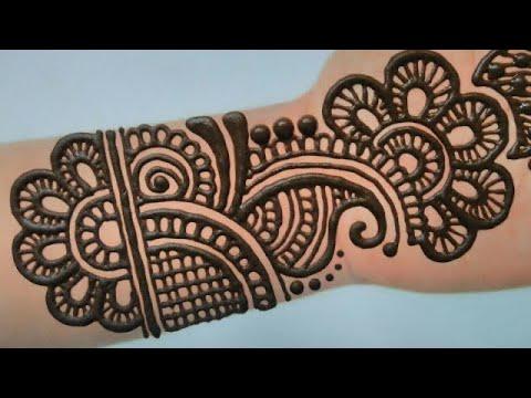 easy mehndi designs for beginners full hand