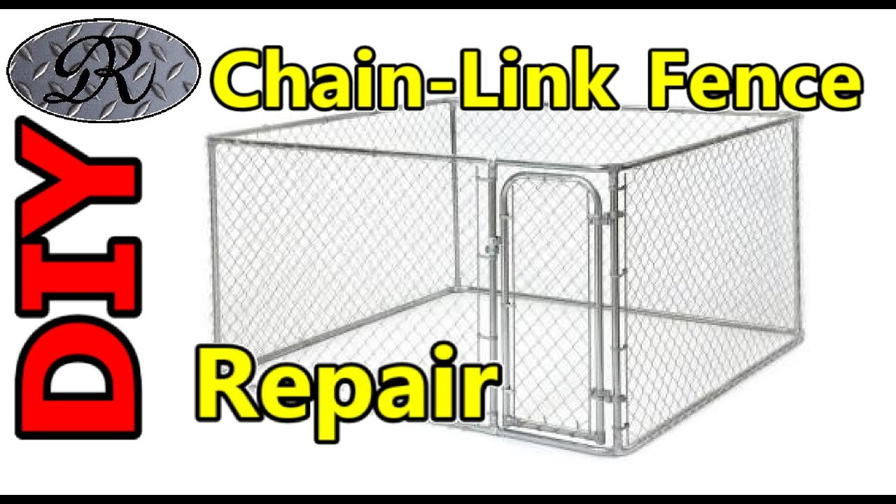 Diy mending chain link fence panels dog kennel fencing diy mending chain link fence panels dog kennel fencing perimeter youtube baanklon Choice Image