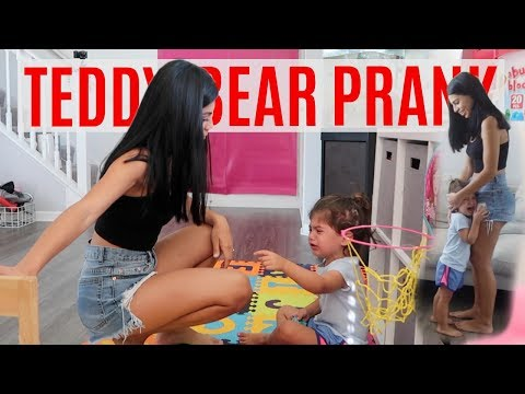 MOVING TEDDY BEAR PRANK!!! *SHE CRIES*
