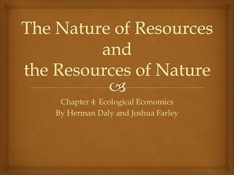 Chapter 4 Nature of Resources the Resources of Nature