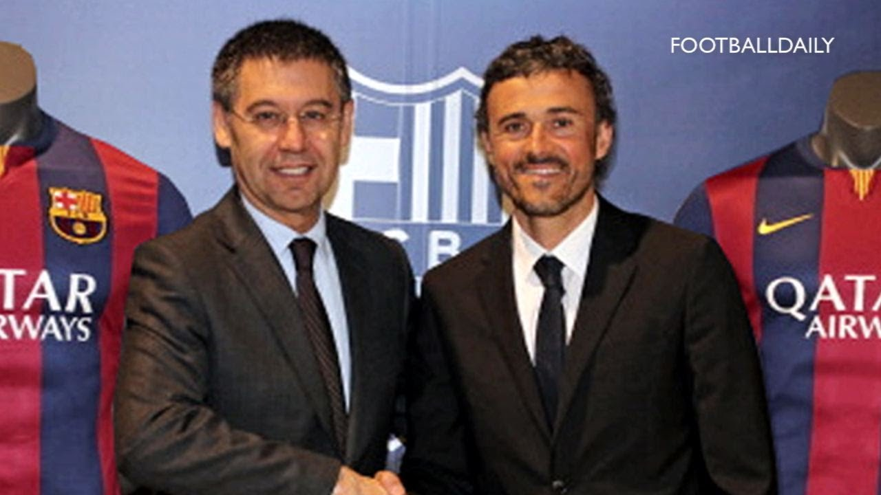 Luis Enrique Unveiled As New Fc Barcelona Manager Youtube