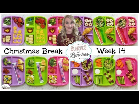School Lunch Ideas || Christmas Break Edition + What They Ate || Bunches of Lunches