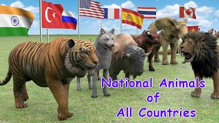 National Animals of Countries | Flags and Countries name With National Animal