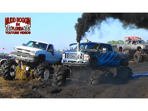 Diesels Get Deep in Mud Hole From HELL .. Stuck Like Chuck .. Again.