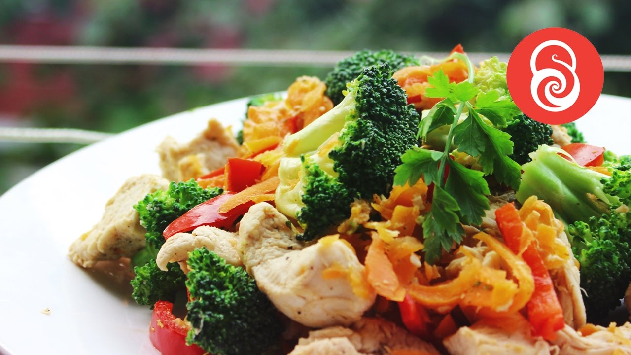 Easy Chicken Vegetable Mix - Healthy Recipes - YouTube
