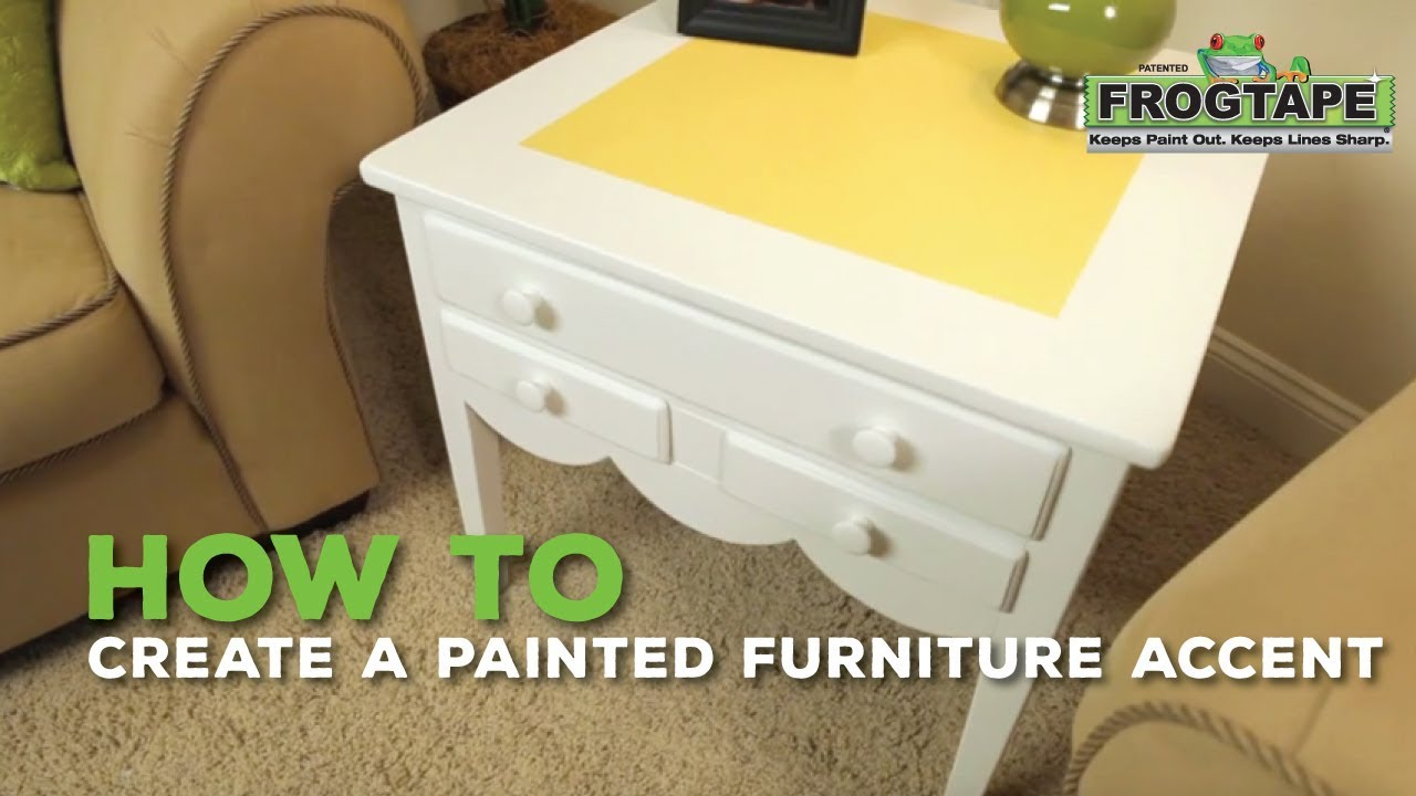 How to create a painted furniture accent